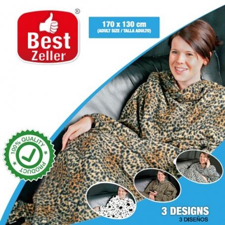 Patura cu maneci Best Zeller | Imprimeuri animal print
