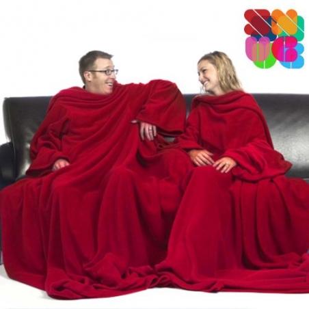 Patura dubla cu maneci Snug Snug pentru adulti