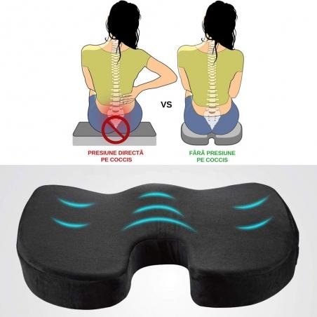 Perna pentru scaun din spuma cu memorie - Coccyx - BackMed
