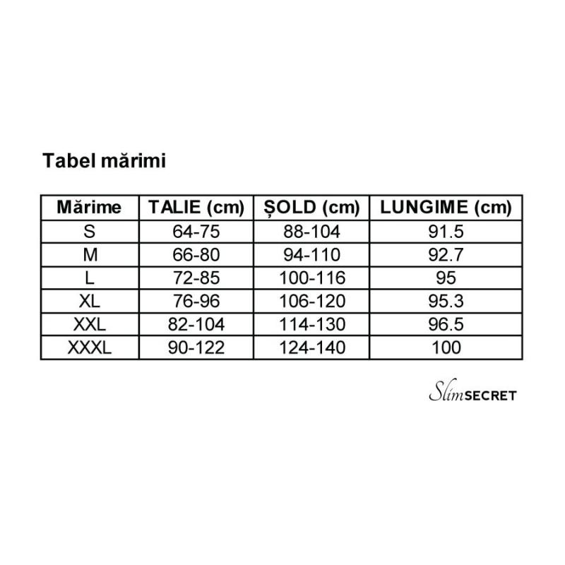 tabel cu masuri hot pants long slimsecret